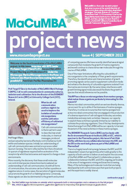 MACUMBA Project News Issue 4